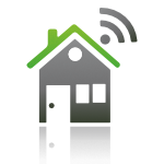 a home with wifi symbol above to show smart home automation