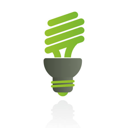 energy efficient light bulb used in outdoor lighting installation